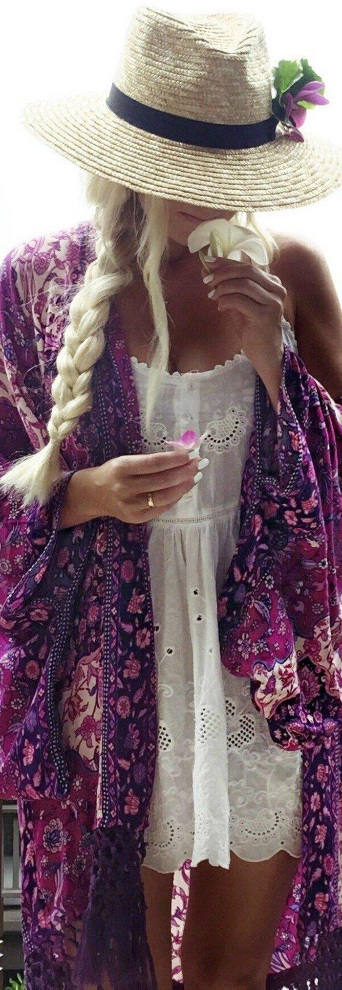 Kimono-für-Damen-in-rosa-lila-Nuancen