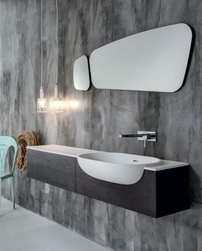 Moderne -waschbecken-für-graues-badezimmer