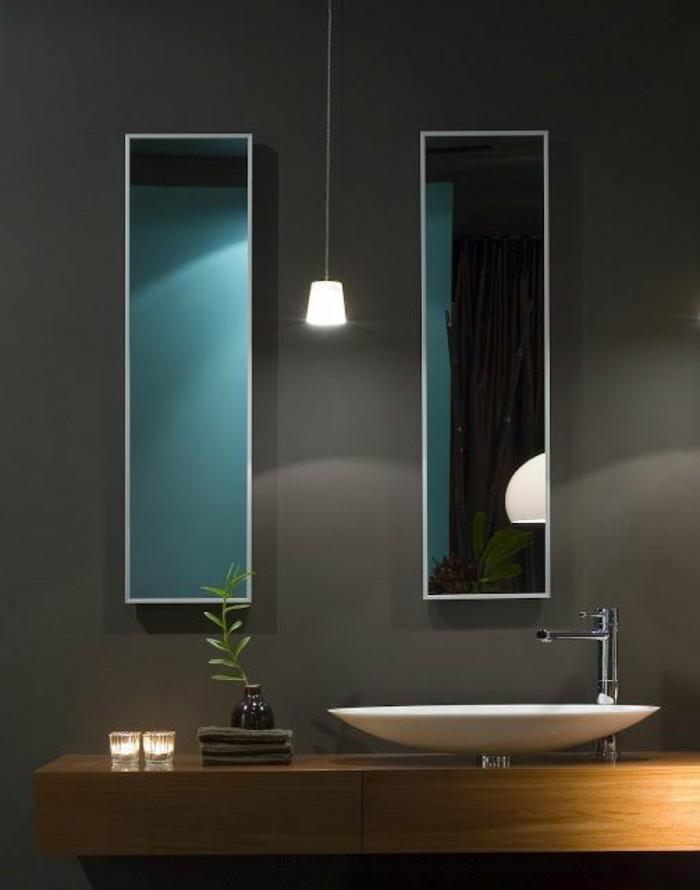 Moderne -waschbecken-und-hängelampe