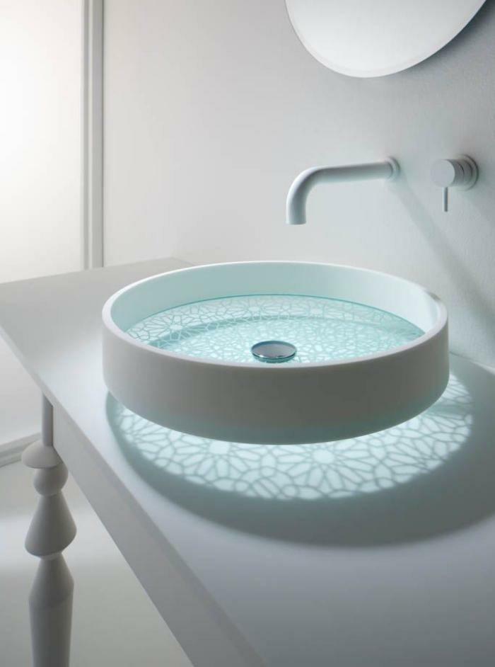 Moderne -waschbecken-weiß-oval