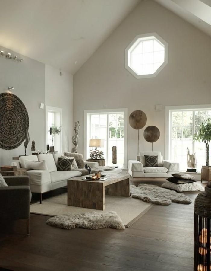 Schöne Wohnzimmer Dachgeschoss