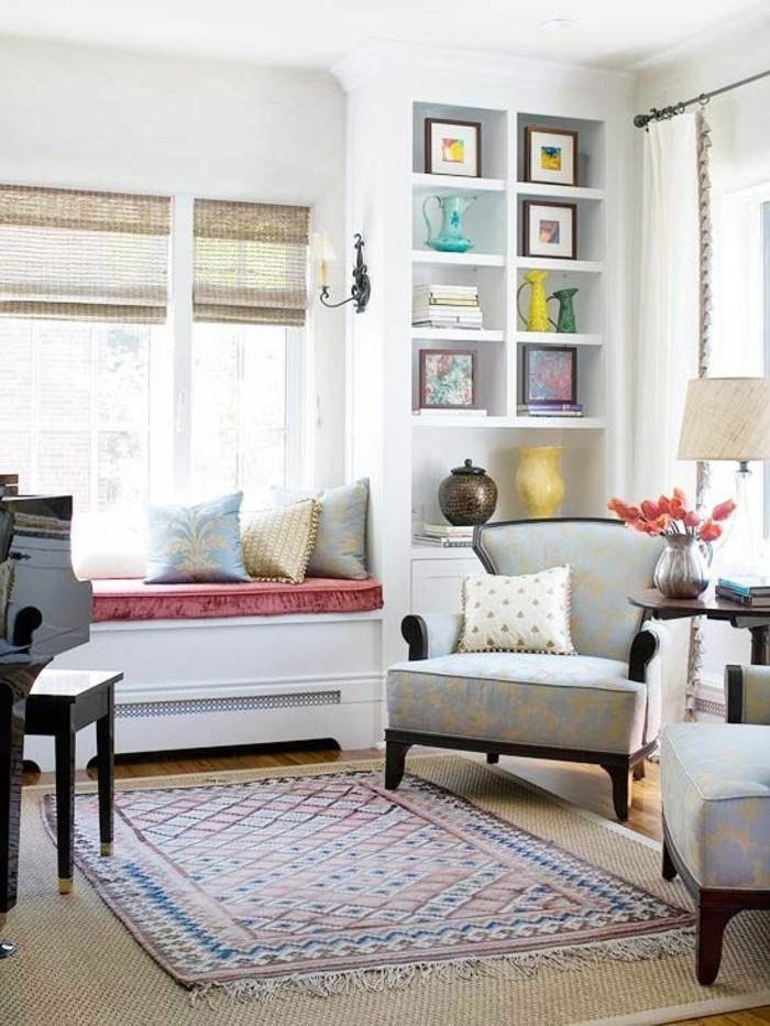 Sitzecke Wohnzimmer Auf Der Fensterbank