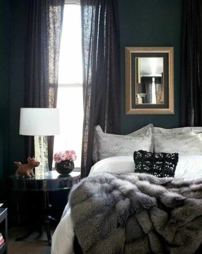 Tagesdecken-für-Betten-schlafzimmer-in-dunklen-farben