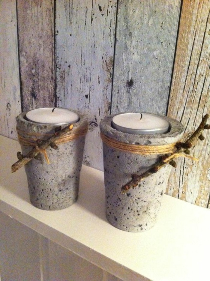 Teelichthalter-basteln-aus-Beton-Schnur-kleinen-Zweigen