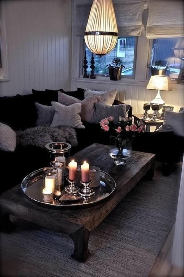schöne wohnzimmer decken:Schöne wohnzimmer decken : Deckenleuchten Wohnzimmer Kerzen und Rosen