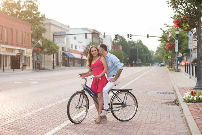 altes-Modell-Fahrrad-für-romantische-Treffen