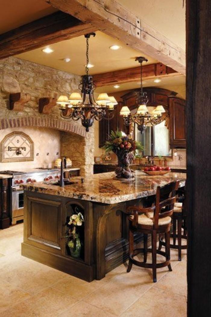 arbeitsplatte-marmor-ideen-küchen-gestaltung