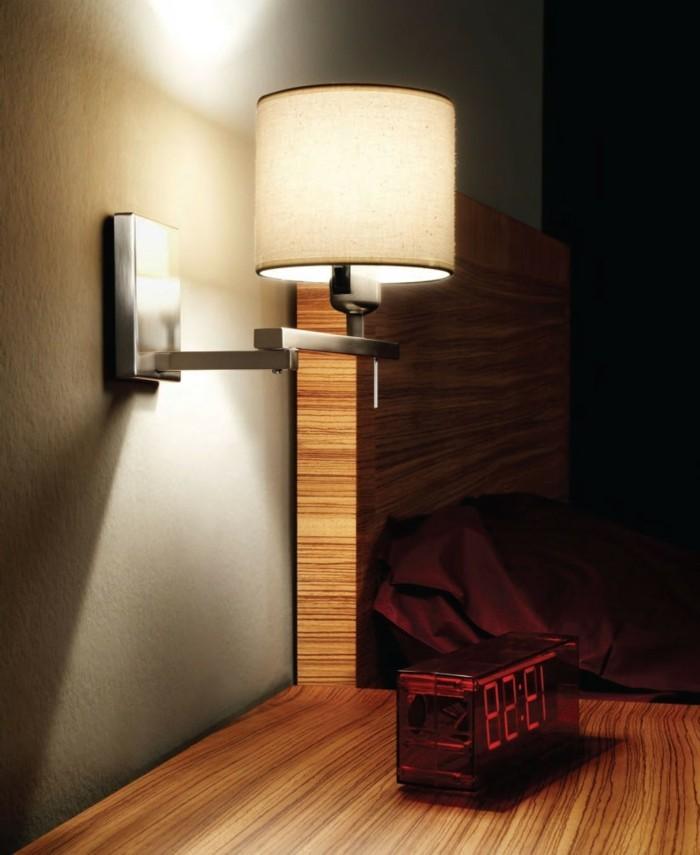 Attraktive Gestaltung Wandlampe Im Schönen Schlafzimmer