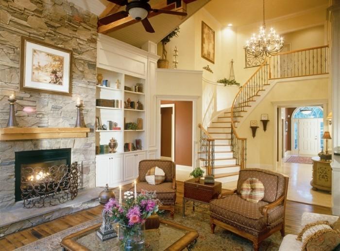 steinwand wohnzimmer beige raum und m246beldesigninspiration