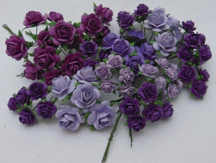 bastelideen-aus-papier-elegante-lila-blumen
