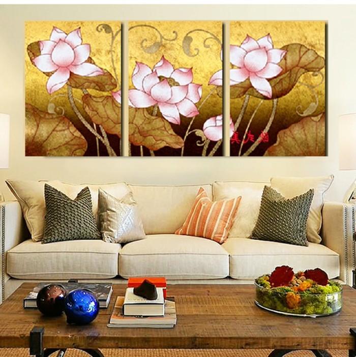 beige-wandfarbe-fürs-wohnzimmer-interessante-bilder-an-der-wand