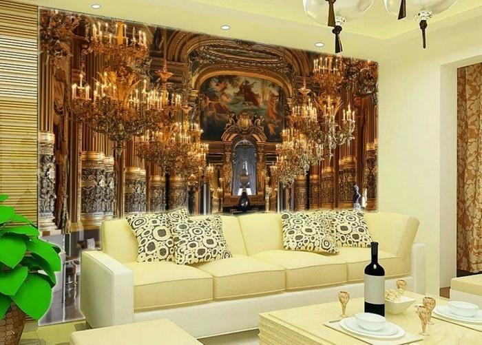 beige-wohnideen-fürs-wohnzimmer-einmaliges-design-wunderschöne-akzentwand