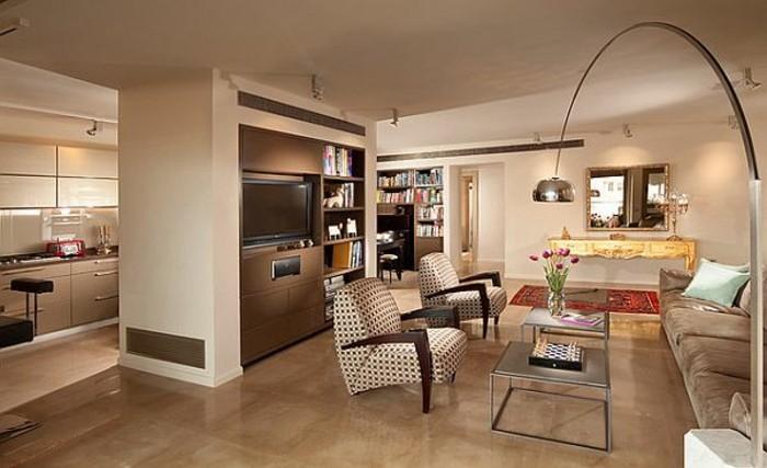 beige-wohnideen-fürs-wohnzimmer-interessantes-interieur