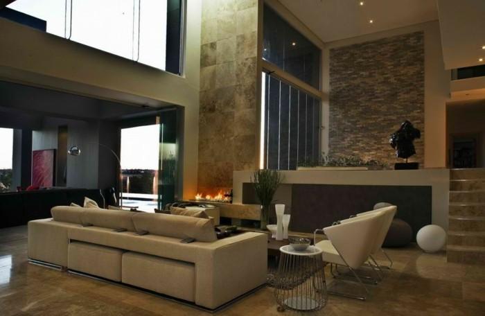 wohnzimmer accessoires bringen leben ins zimmer:beige-wohnideen-fürs-wohnzimmer-moderne-sofas-schöne-gestaltung