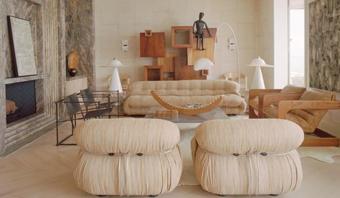 Großartig Beige Wohnideen Fürs Wohnzimmer Zwei Moderne Sessel