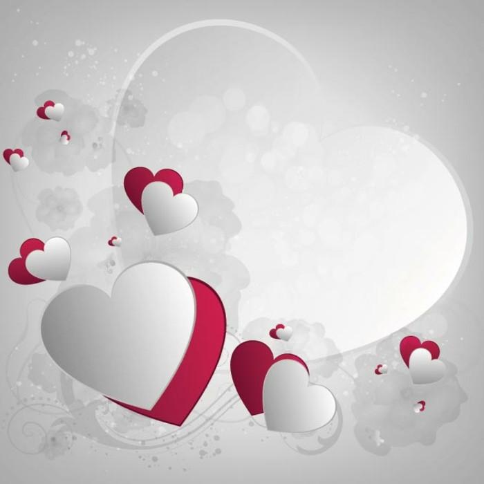 Bilder Zum Valentinstag Wunderschöne Weiße Herzen