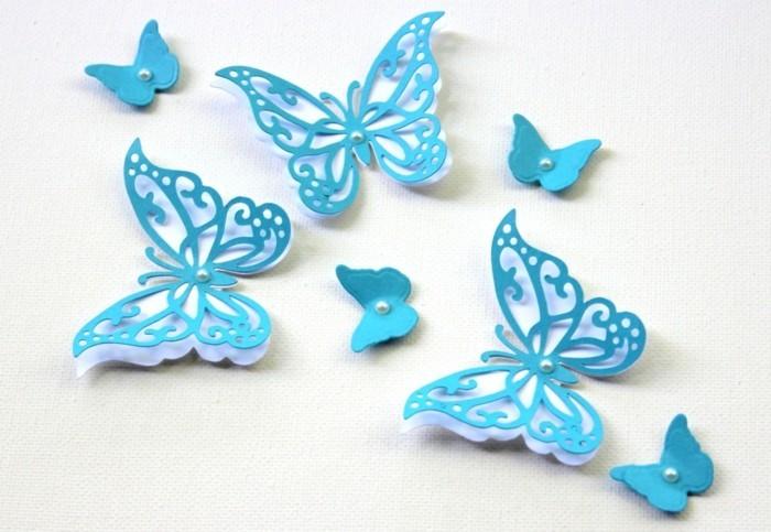 blaue-interessante-schmetterlinge-bastelideen-mit-papier