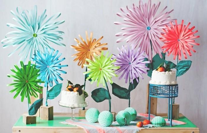 blumen-basteln-aus-papier-sehr-schöne-modelle