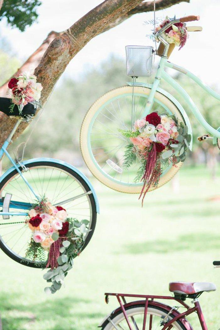 coole-kreative-Idee-Dekoration-mit-Fahrrädern
