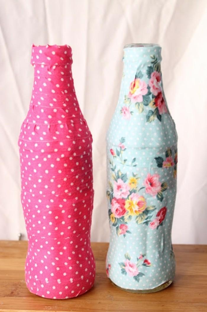 deko-bastelideen-bunte-flaschen-sehr-schönes-design