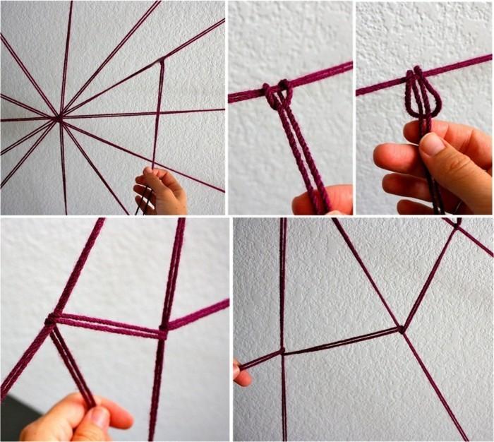 deko-bastelideen-ein-netz-bildern-wunderschönes-projekt-diy