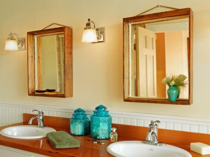 deko-bastelideen-wunderschönes-modell-badezimmer-zwei-tolle-spiegel