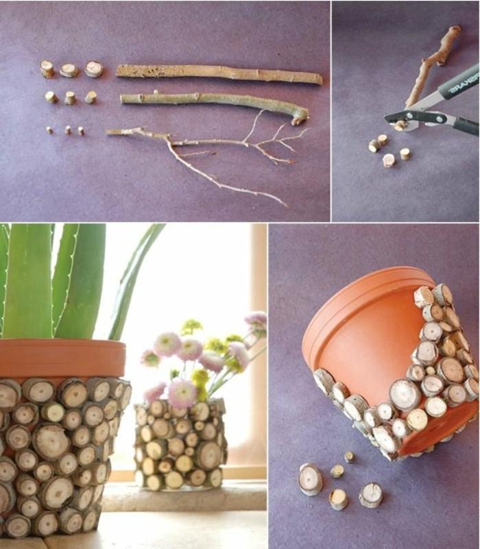 diy-deko-blumentopf-und-schöne-dekorative-steine