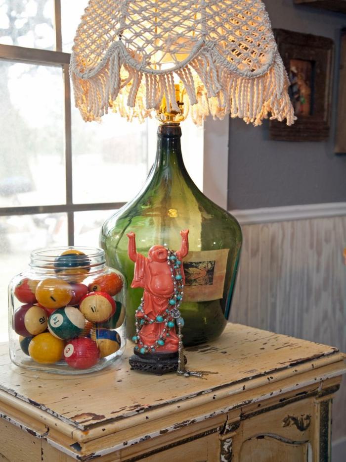 diy-deko-wunderschöne-flasche-toller-lampenschirm