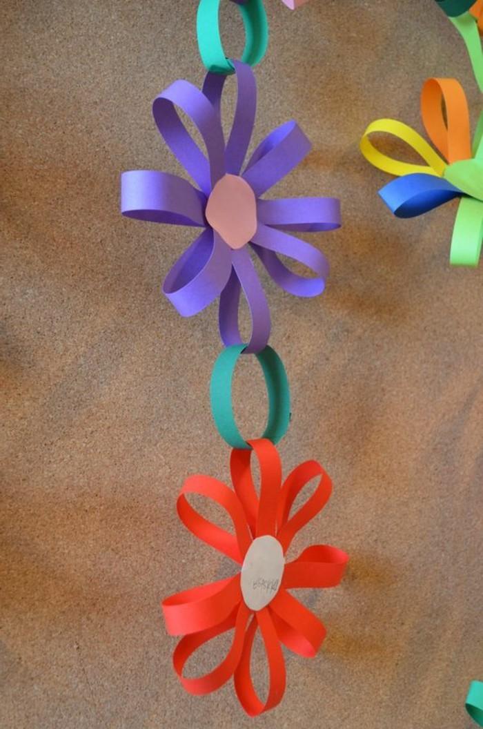 effektvolle-gestaltung-bastelideen-aus-papier-bunte-papierblumen