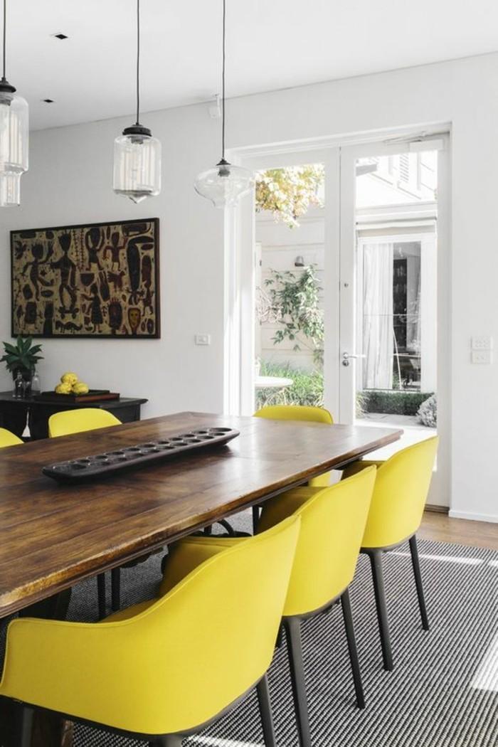 Einzigartiges Esszimmer Interieur Mit Gelben Stühlen Als Akzent 80  Faszinierende Modelle Esszimmerstühle   Esszimmer ...