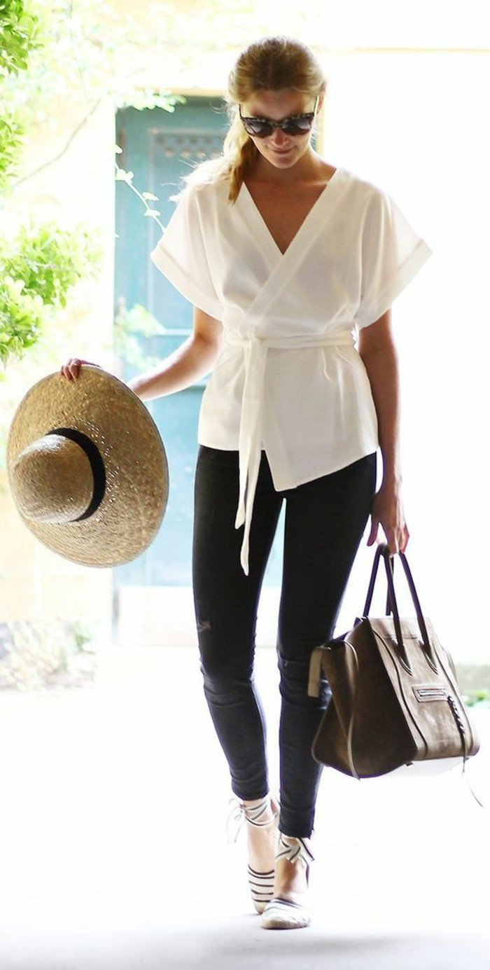 elegante-Kimono-Bluse-in-Weiß