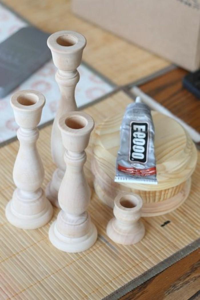 elegante-hölzerne-Kerzenhalter-basteln-DIY-Idee