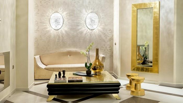 elegantes interieur beige wandfarbe frs wohnzimmer - Wohnzimmer Farben Beige