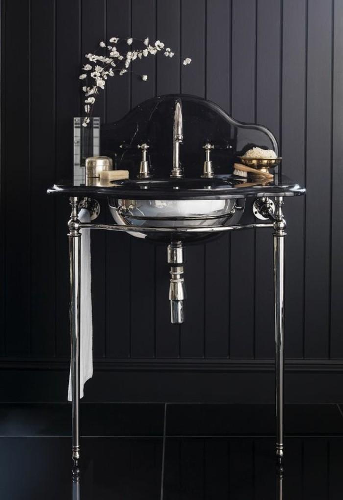 elegantes-modell-waschtisch-selber-bauen-interessante-dunkle-badezimmer-gestaltung