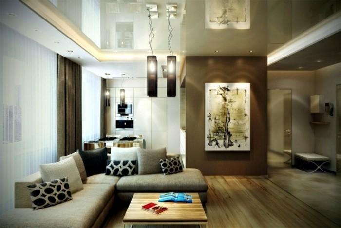 steinwand beige wohnzimmer. Black Bedroom Furniture Sets. Home Design Ideas