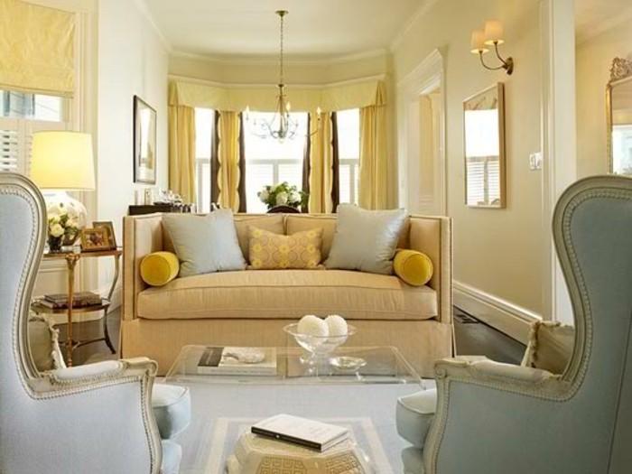 Elegantes Wohnzimmer Farbe Cappuccino Und Beige Kombinieren