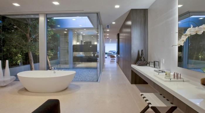 exotische-gestaltung-walk-in-dusche-aus-glas-deckenleuchten-im-badezimmer