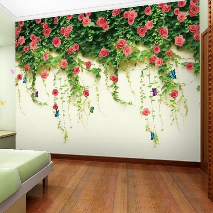 Fototapete Blumen Tolles Design Wohnzimmer Hlzerner Boden