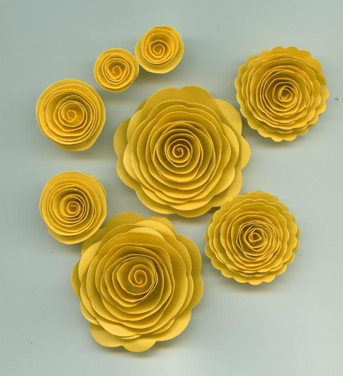 gelbe-papierblumen-foto-von-oben-genommen-bastelideen