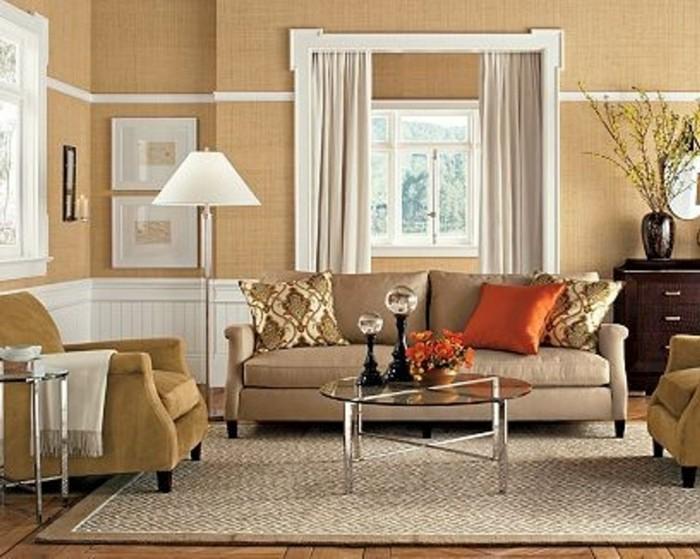design : wohnzimmer beige petrol ~ inspirierende bilder von ... - Beige Wandfarbe Wohnzimmer