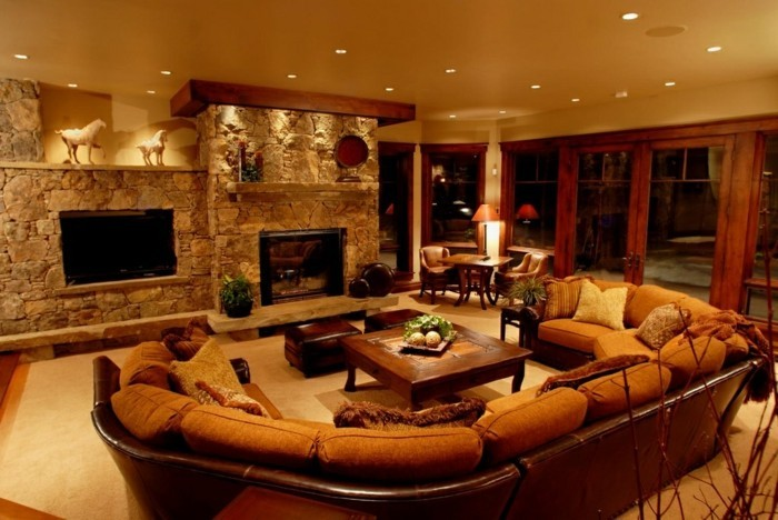 Design Wohnzimmer Farben Beige Braun Inspirierende