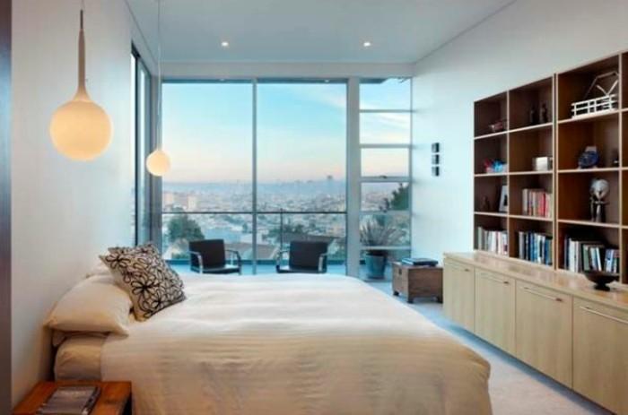 gemütliches-modernes-schlafzimmer-mit-schönen-pendelleuchten