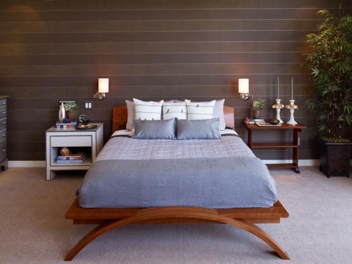 Schön Gemütliches Schlafzimmer Mit Interessanten Wandleuchten