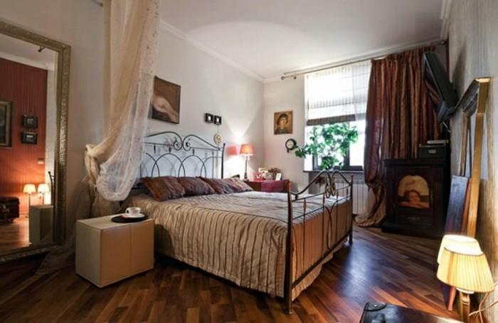 gemütliches-schlafzimmer-pvc-boden-dunkle-gardinen