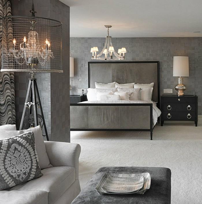 graues-interieur-moderne-schlafzimmer-gestaltung