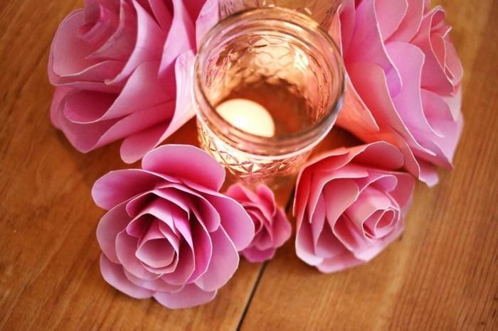 herrliche-diy-ideen-bastelideen-aus-papier-rosige-rosen