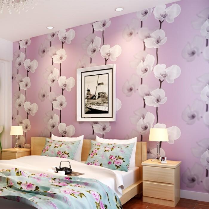 fototapete schlafzimmer blumen. Black Bedroom Furniture Sets. Home Design Ideas