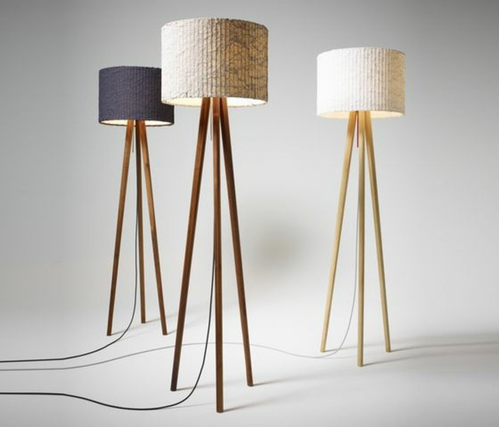 stehlampe 3 beine simple nordic standing lamp wood leg fabric lampshade e27 stehlampe 3 beine. Black Bedroom Furniture Sets. Home Design Ideas