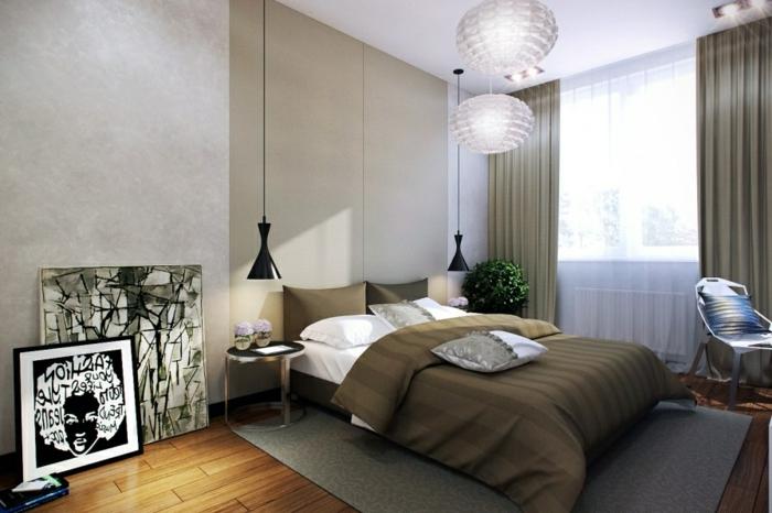 interessante-modelle-pendelleuchten-im-attraktives-schlafzimmer