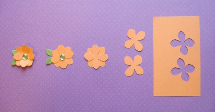 interessantes-foto-in-orange-und-lila-bastelideen-mit-papier-blumen